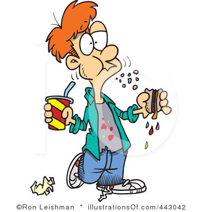 400x420 Eating Food Clipart Eating Junk Food Clipart 1