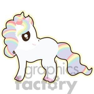 Unicorn And Rainbow Clipart