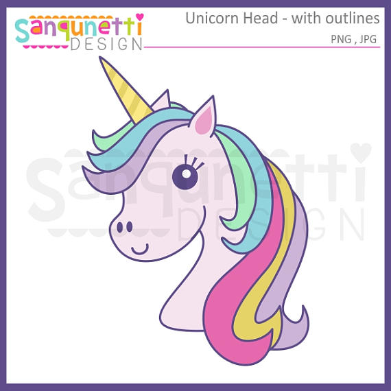 570x570 Unicorn Clipart, Unicorn Head Clipart, Unicorn With Outlines