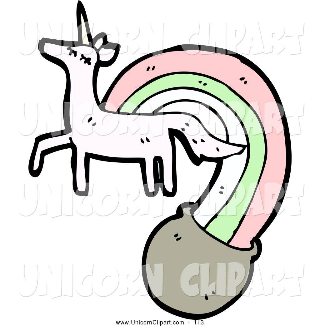 1024x1044 Fantasy Vector Cliprt Of Unicorn Shooting Rainbow Into