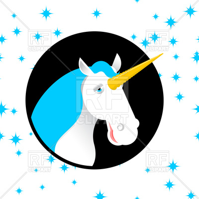 400x400 Fun Unicorn, Fabulous Beast With Horn Royalty Free Vector Clip Art