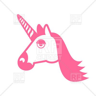 400x400 Unicorn Head Royalty Free Vector Clip Art Image