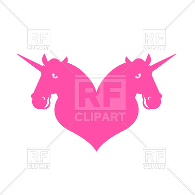 400x400 Unicorn Pink Silhouette Royalty Free Vector Clip Art Image