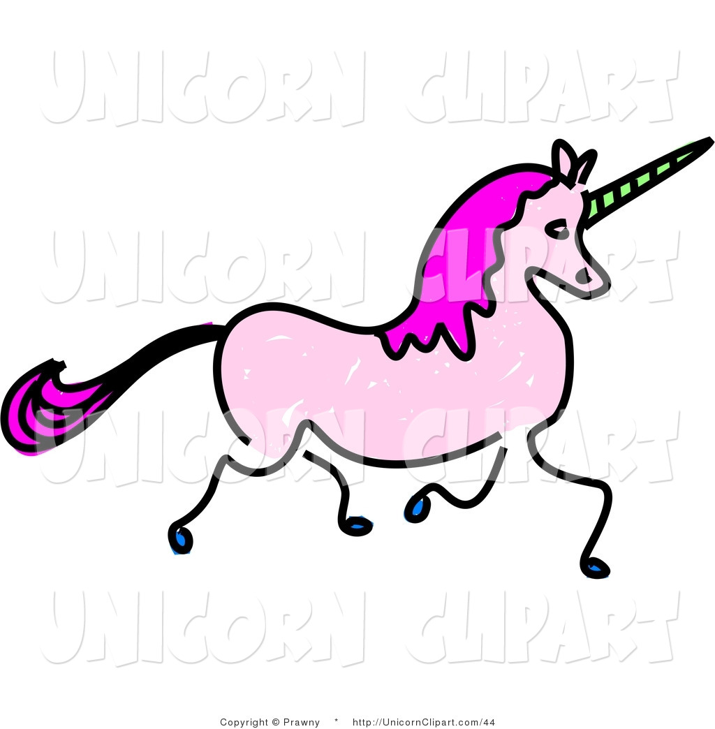 1024x1044 Fantasy Vector Clip Art Of A Sketched Trotting Pink Unicorn By