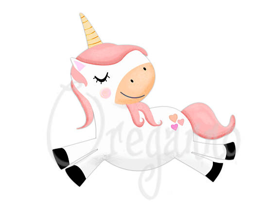 570x440 Cute Party Unicorn Clipart Graphics Unicorn Commercial Use