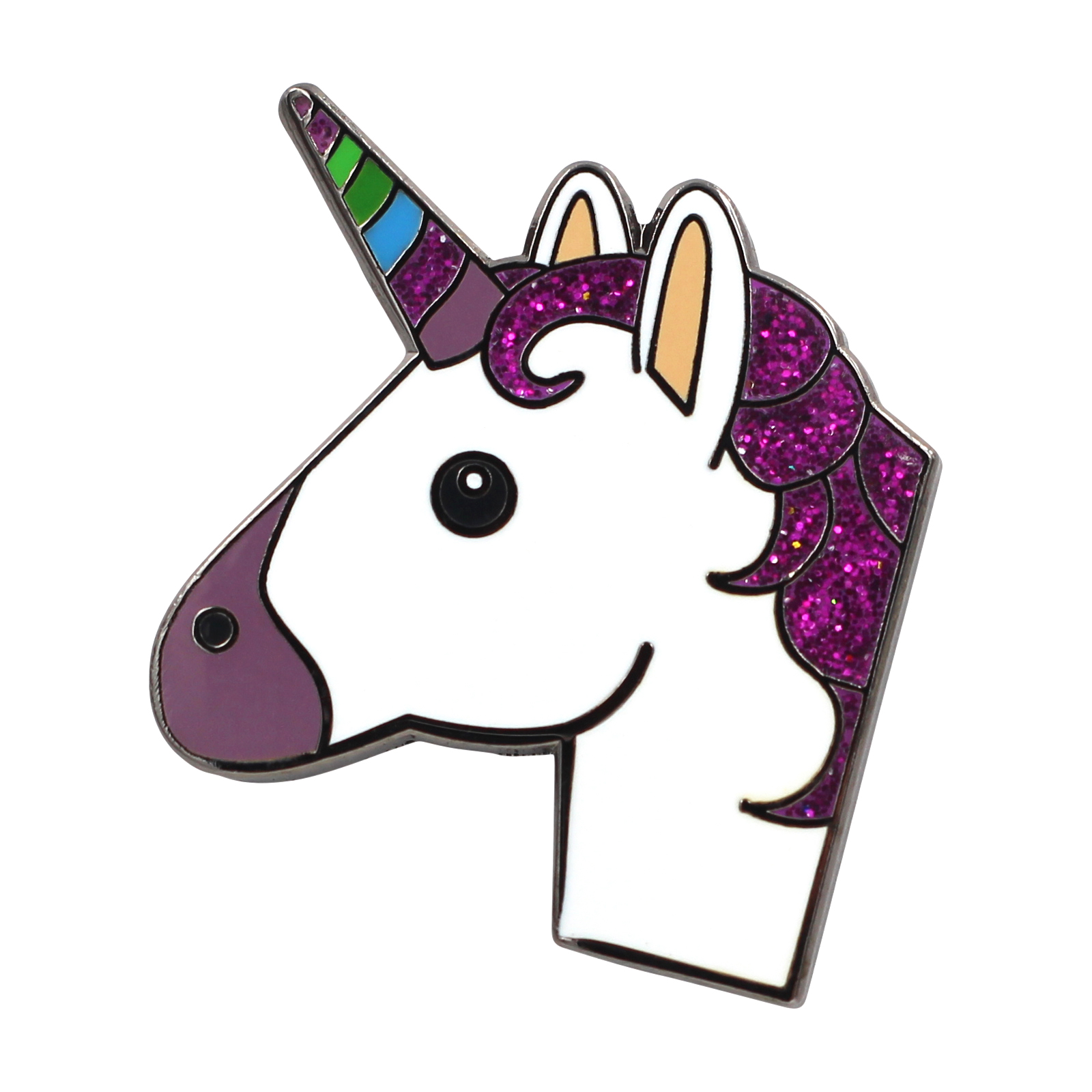 1600x1600 Unicorn Emoji Pin Enamel Pin For Your Life Real Sic