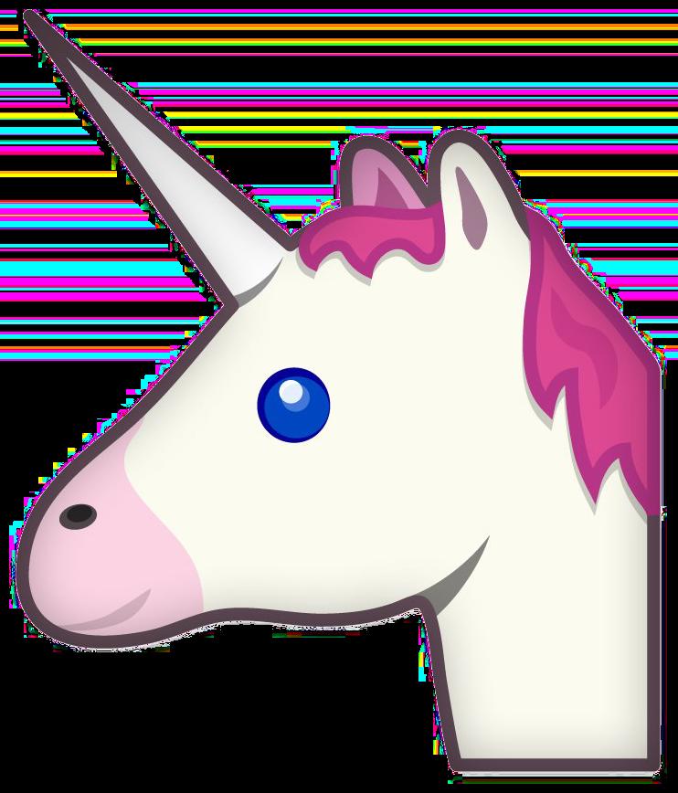 742x868 Unicorn Profile Emoji Transparent Png Image