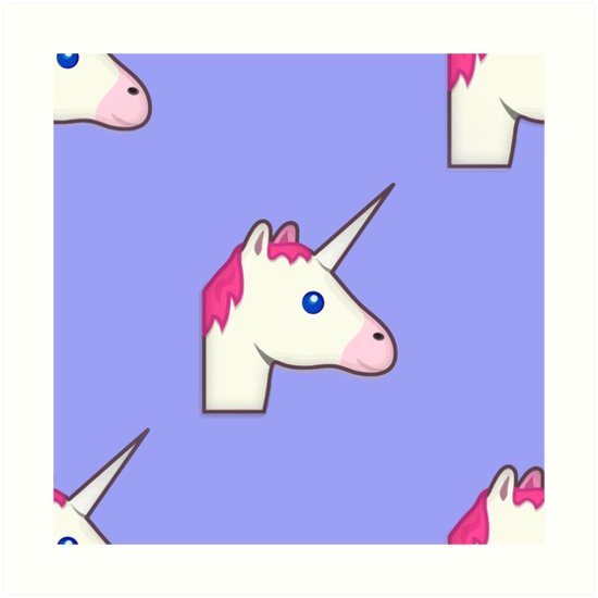 550x550 Unicorn Emoji Art Prints By Gossiprag Redbubble