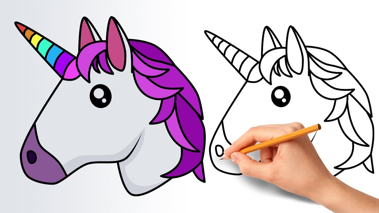 1280x720 How To Draw A Unicorn Emoji