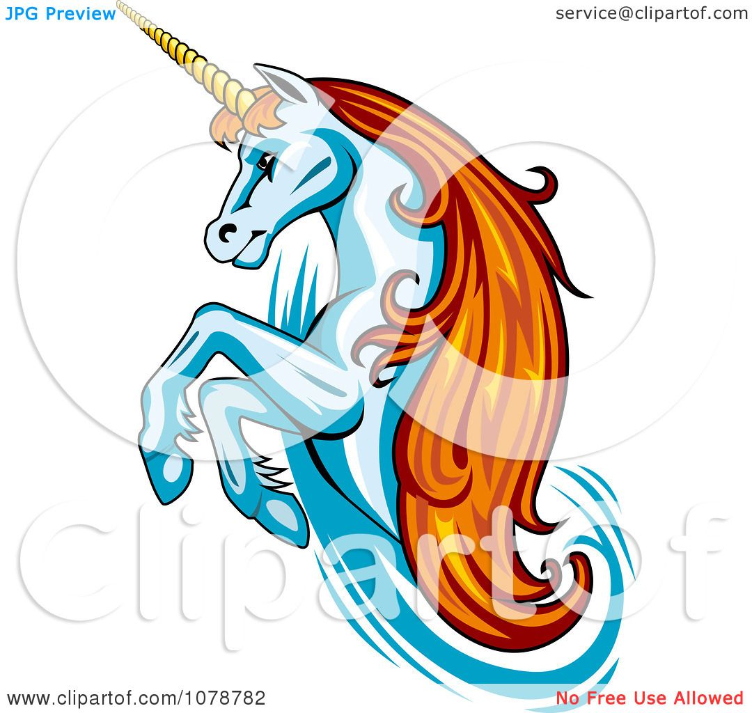 1080x1024 Clipart Rearing Unicorn With Orange Hair Logo