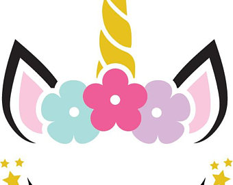 340x270 Unicorn Head Clipart Etsy