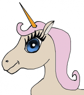 288x326 Clipart Unicorn Face