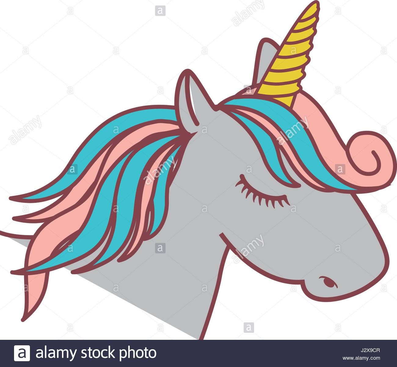 1300x1201 Magical Unicorn Icon Stock Vector Art Amp Illustration, Vector Image