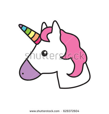 450x470 Unicorn Head Clipart Unicorn Head White Pink Stock Vector