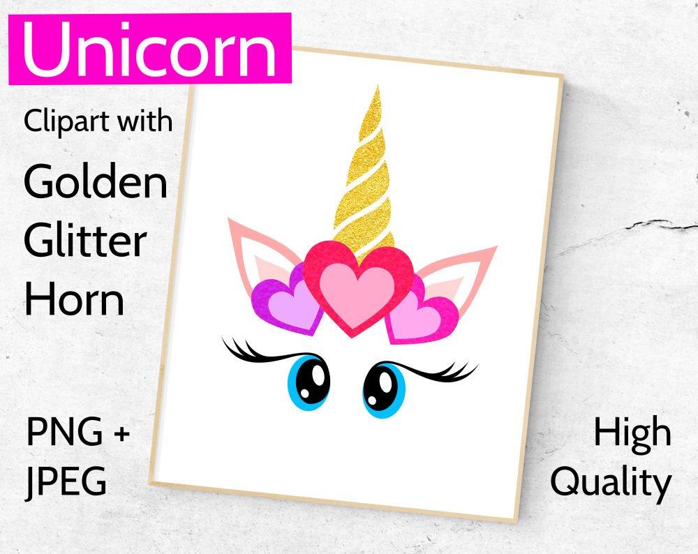 1000x794 Golden Unicorn Clipart, Unicorn Face Clip Art With Golden Horn