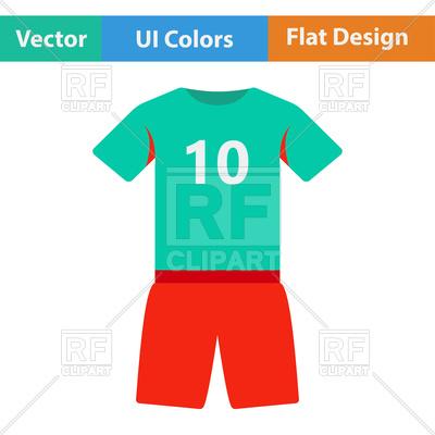 400x400 Football Uniform Royalty Free Vector Clip Art Image