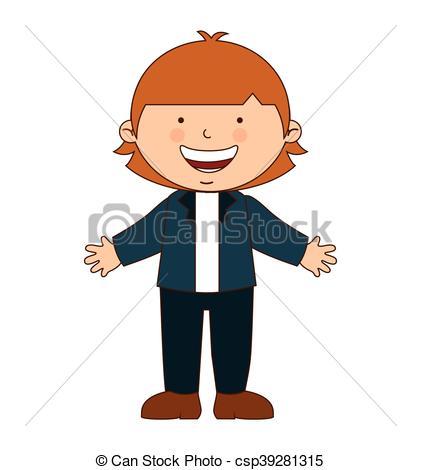 421x470 Happy Boy Student Uniform Isolated Vector Illustration Vector