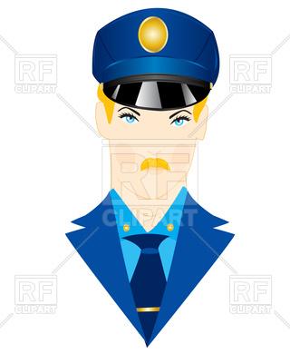 320x400 Policeman In Uniform Royalty Free Vector Clip Art Image