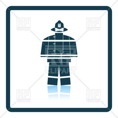 400x400 Uniform Of Fire Service Icon Royalty Free Vector Clip Art Image