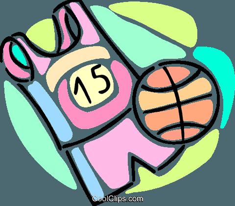 480x420 Basketball Uniform And A Basketball Royalty Free Vector Clip Art