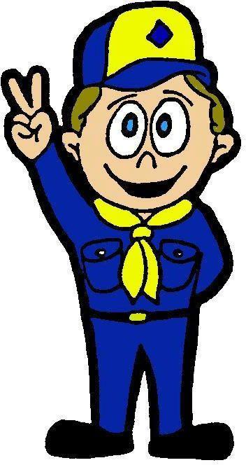 352x664 Cartoon Clipart A Black And White Creative Boy Scout In Uniform