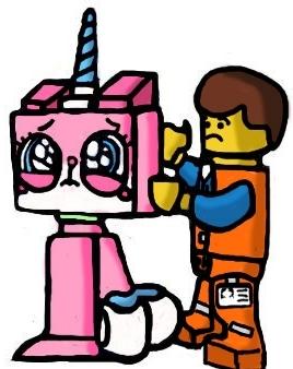 268x338 Lego Unikitty Emmet By Helgohoernchen