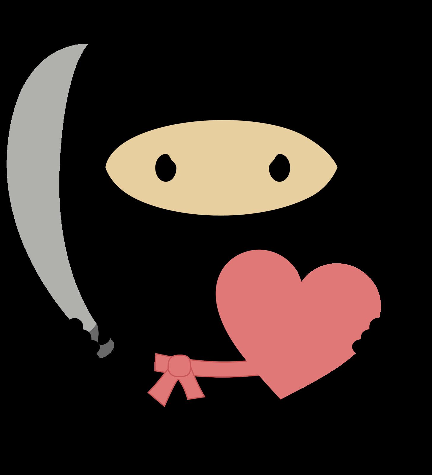 1455x1600 Ninja In Love Clipart.