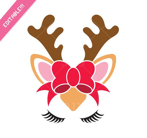 570x537 Reindeer Svg Reindeer Face Svg Reindeer Clip Art Reindeer Svg