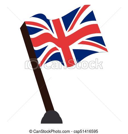 450x470 Isolated Flag Of The United Kingdom, Vector Illustration Eps