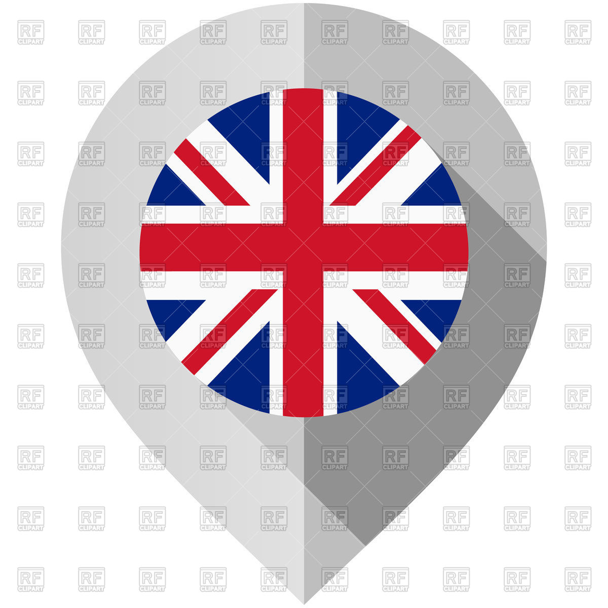 1200x1200 Map Pin With United Kingdom Flag Royalty Free Vector Clip Art