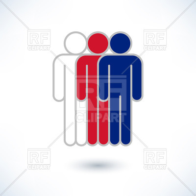 400x400 Pictogram Of Three Men In Colours Of United Kingdom Flag Royalty