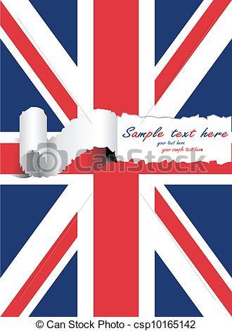 330x470 Ripped Usa United Kingdom Flag Eps Vector