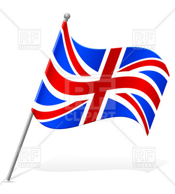 362x400 Wavy Flag Of United Kingdom Icon Royalty Free Vector Clip Art