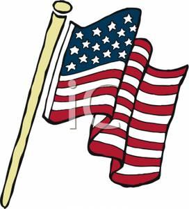 272x300 The American Flag On A Pole