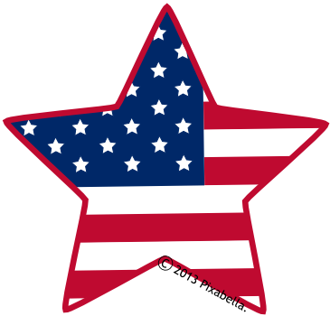 365x350 American Flag Clip Art Star American Star Clipart
