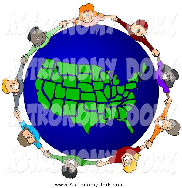600x620 Cliprt Of Circle Of Diverse Children Holding Handsround