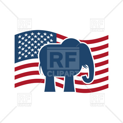 400x400 Republican Elephant And Us Flag. Political Party America Royalty