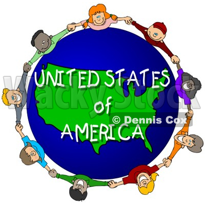 400x400 Royalty Free (Rf) Clipart Illustration Of Children Holding Hands