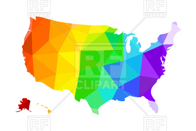 400x267 The Lgbt Flag In The Form Of A Map Of The United States Of America