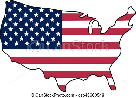 450x324 These United States Of America. American Flag In Shape Of Eps