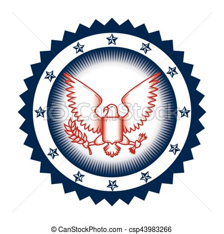 450x470 United States Of America Eagle Emblem Vector Illustration Clip