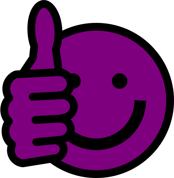 582x596 Purple Thumbs Up Clip Art