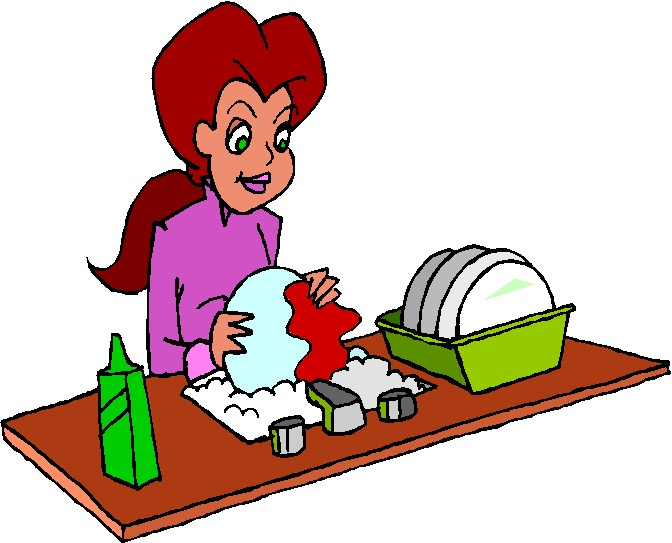 672x543 Clip Art Activities Washing Up