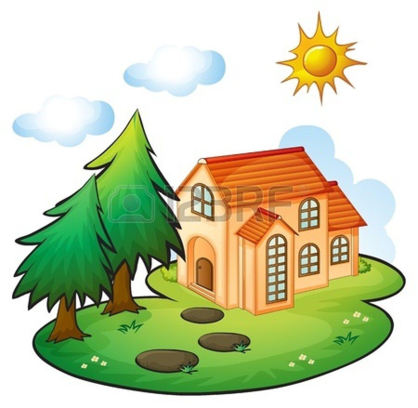 1350x1317 Cute House Clipart