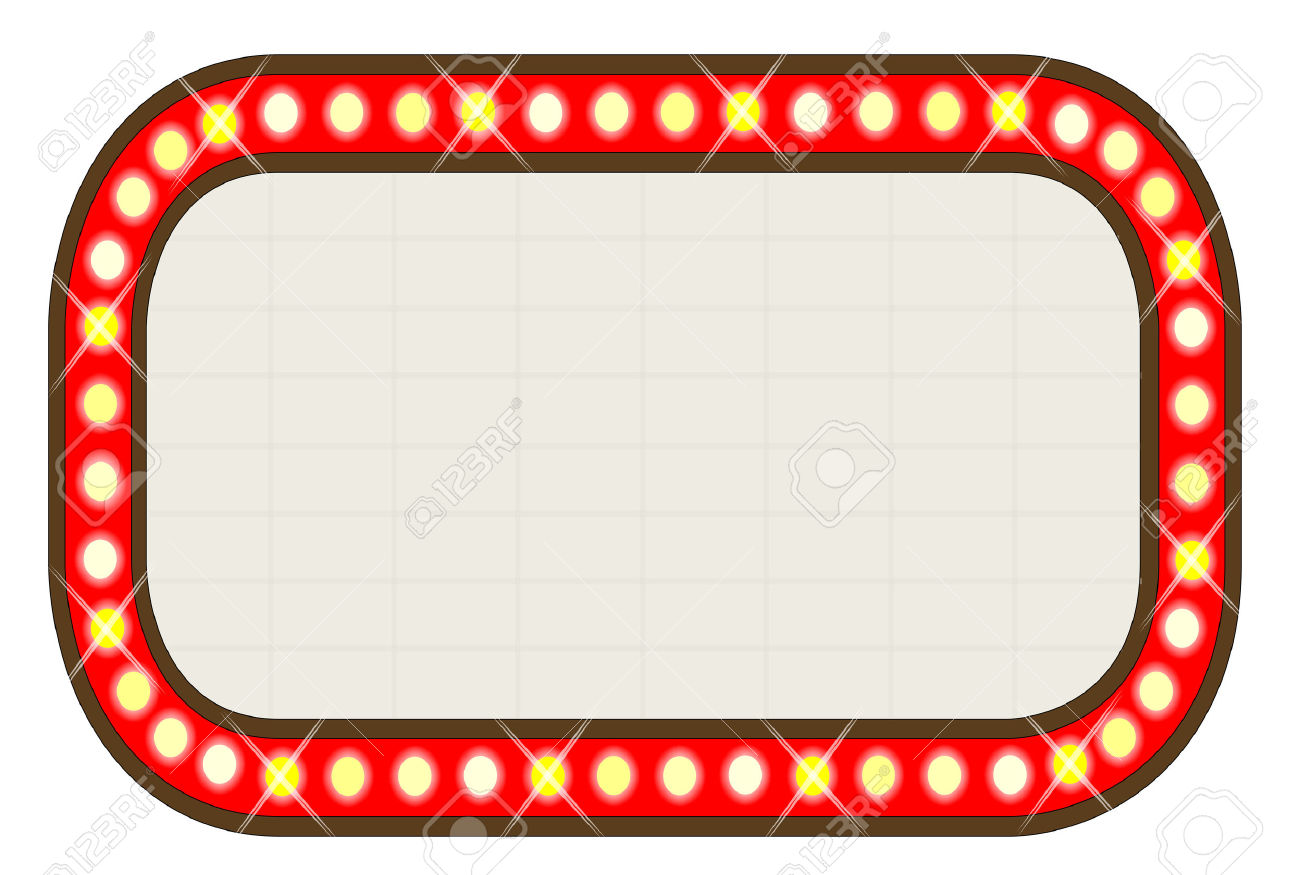 1300x875 Movie Clipart Marquee Sign