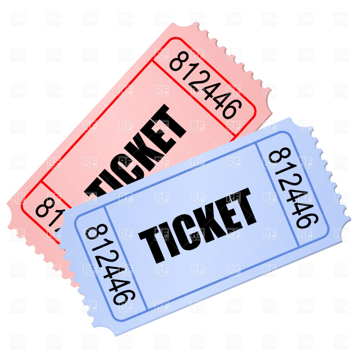1200x1200 Tickets Vector Image Vector Artwork Of Objects Prague