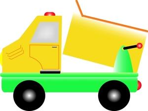 300x224 Dump Truck Cartoon Clipart