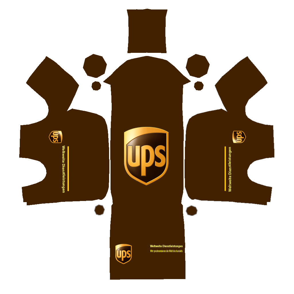 1024x1024 Ups Delivery Truck Clipart