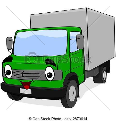 450x470 New Delivery Truck Clipart