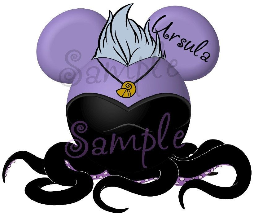 820x700 Ursula Character Little Mermaid Inspired By Swirlycolorpixels